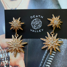 Load image into Gallery viewer, Star Crossed Gold Earrings