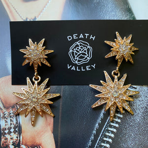 Star Crossed Gold Earrings