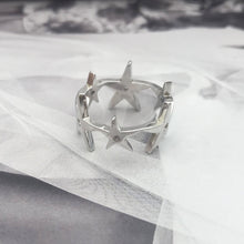 Load image into Gallery viewer, Super Cluster Ring Silver