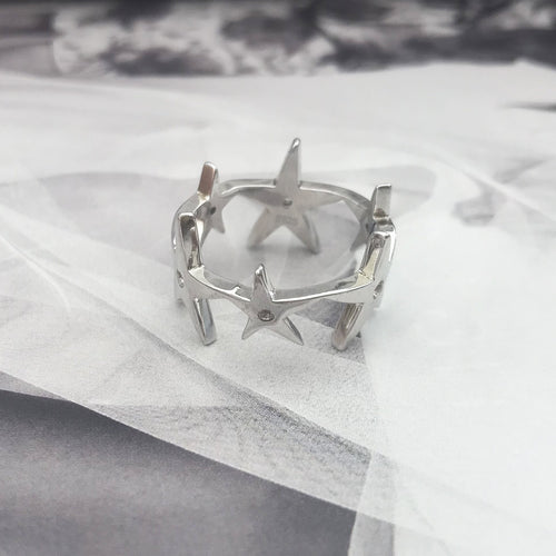 Super Cluster Ring Silver