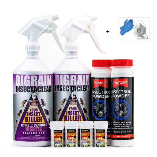 Carpet Moth and Carpet Beetle Control Treatment Pack 2