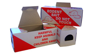 Cardboard Mouse Poison Bait Boxes x 20