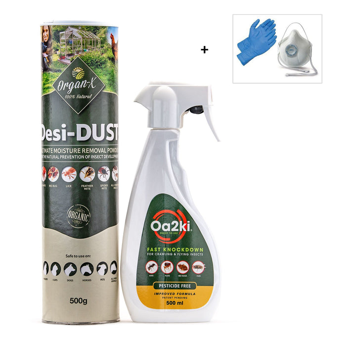 Organic Cockroach Control Treatment Pack