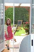 Pleated Sliding Fly Screen Door - 140cm