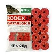 Rodex Oktablok Mouse Poison Bait Blocks x 15