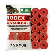Rodex Oktablok Rat Poison Bait Blocks x 75