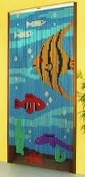 Metal Chain Door Fly Curtain - Tropical Fish