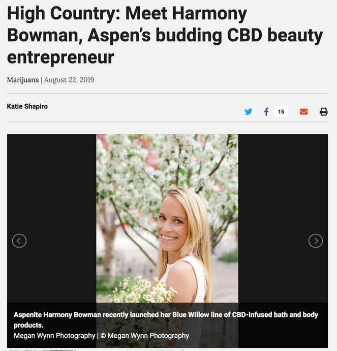 High Country: Meet Harmony Bowman, Aspen's budding CBD beauty entrepreneur