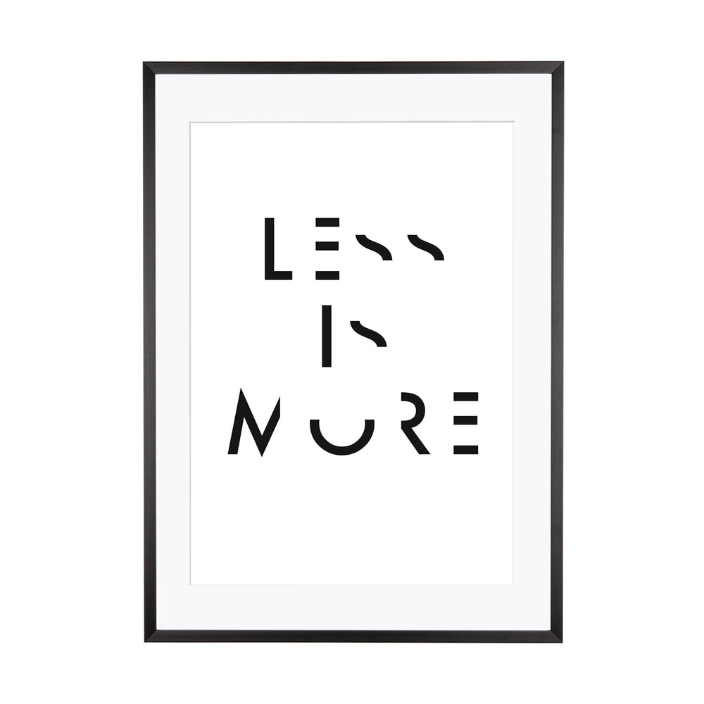 Art Print |  Less is more