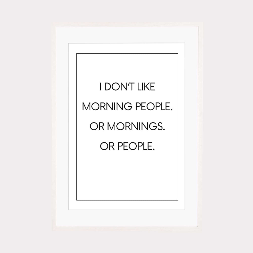 Art Print |  Morning people