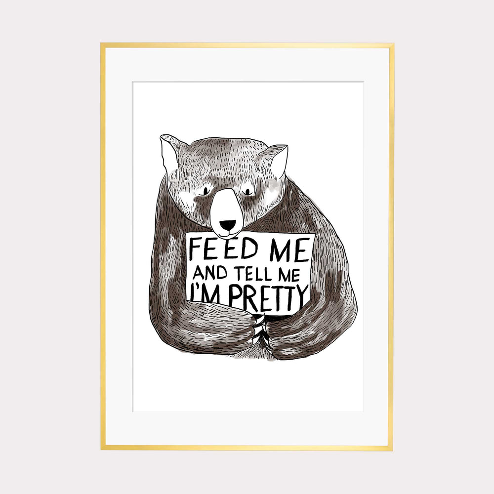 Illustration | Feed me and tell me i*m pretty