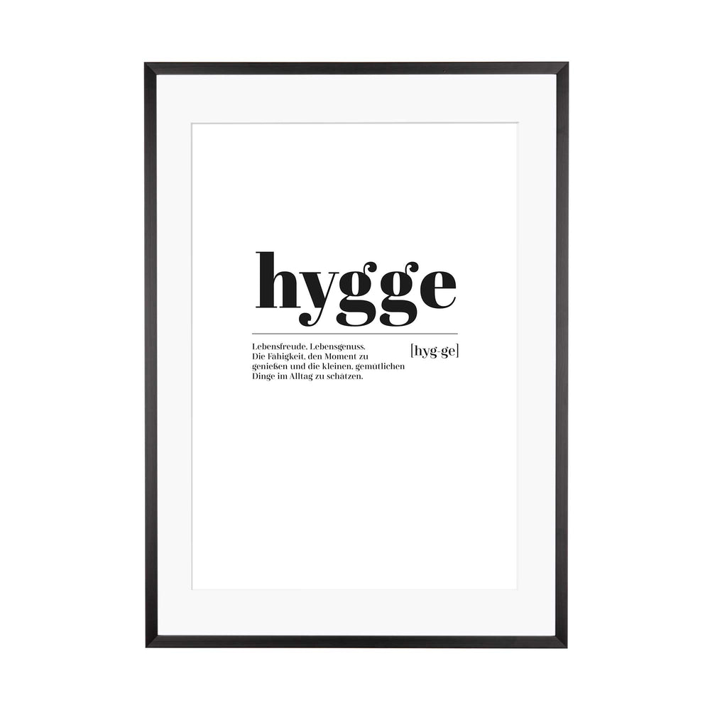 Art Print | Hygge - Worterklärung  Definition à la Duden