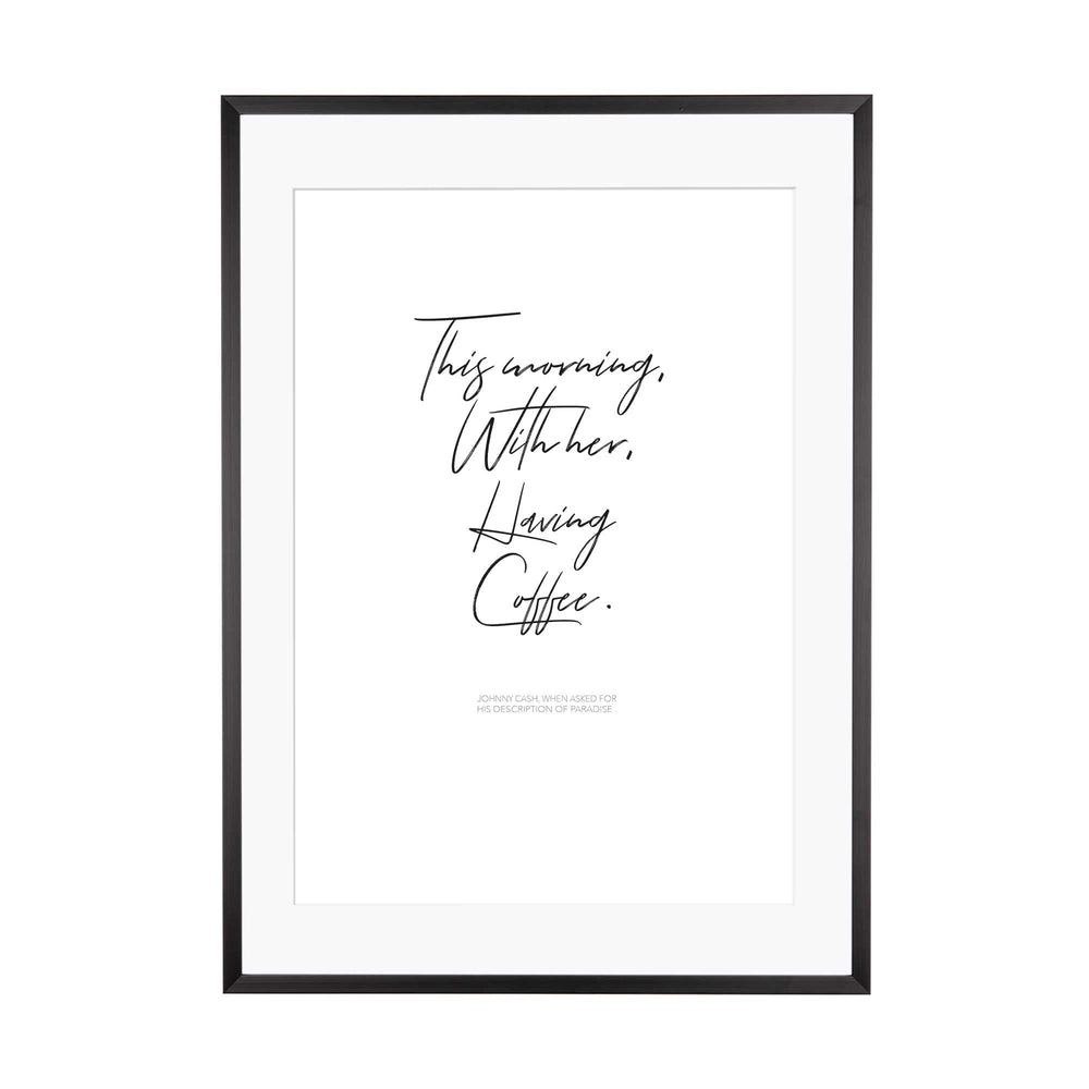 Art Print | This Morning with her...