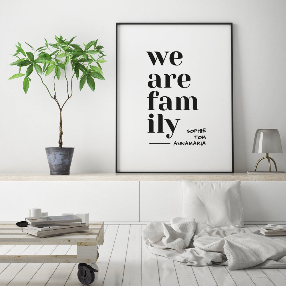Print personalisierbar | We are Family