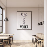 Art Print | Kaffee bla bla bla Vodka