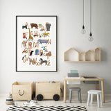 Art Print | ABC-Poster fürs Kinderzimmer - Illustration