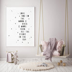 Art Print | Love you to the moon and back
