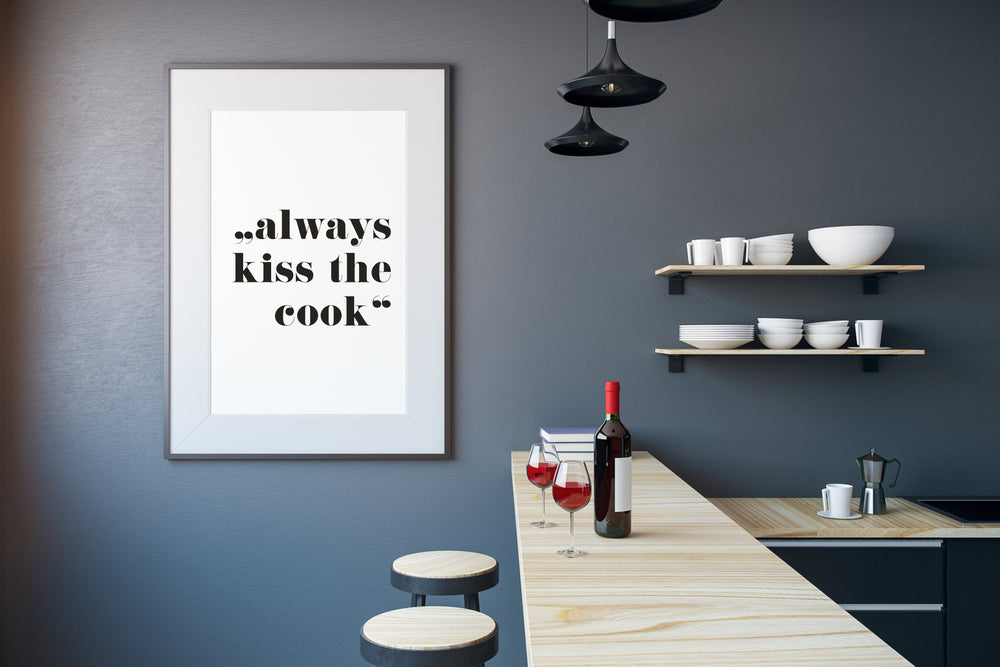 Art Print | always kiss the cook