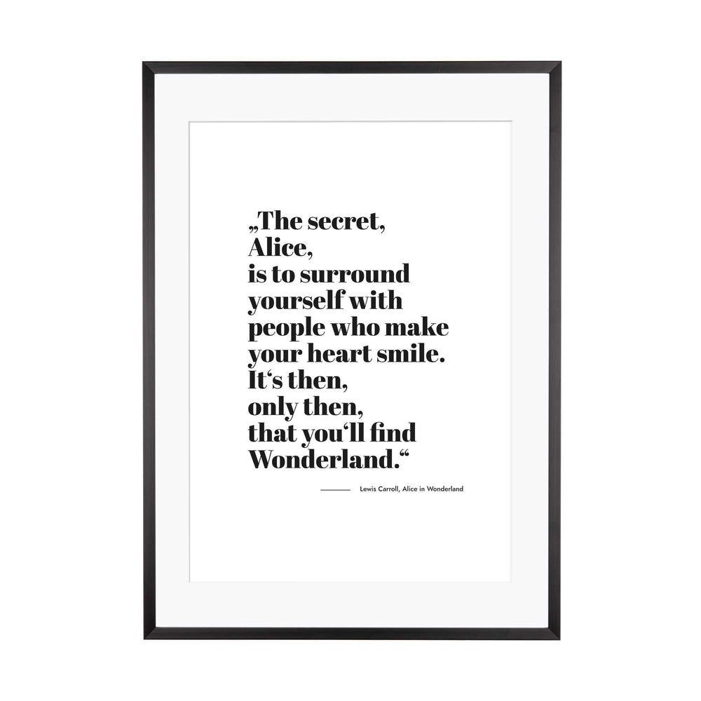 Art Print |  The secret of Wonderland, Alice....