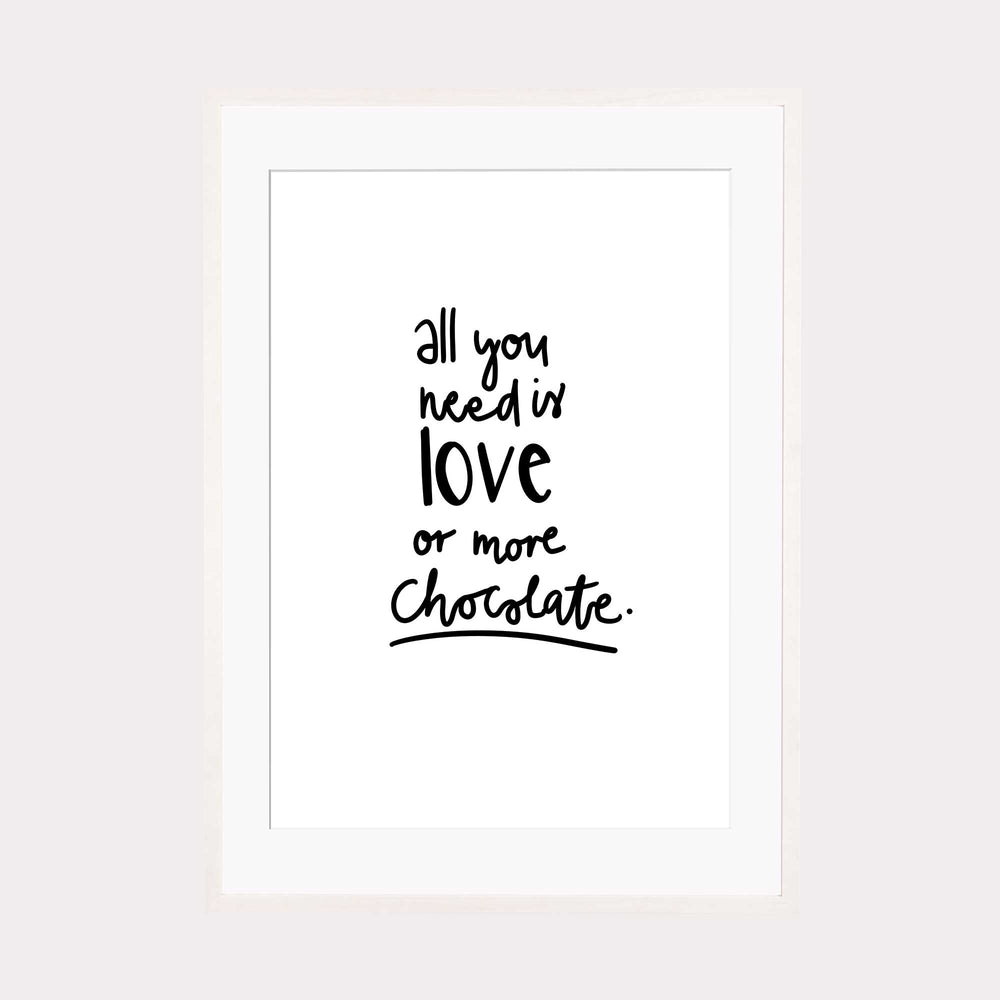 Art Print | Love or more chocolate