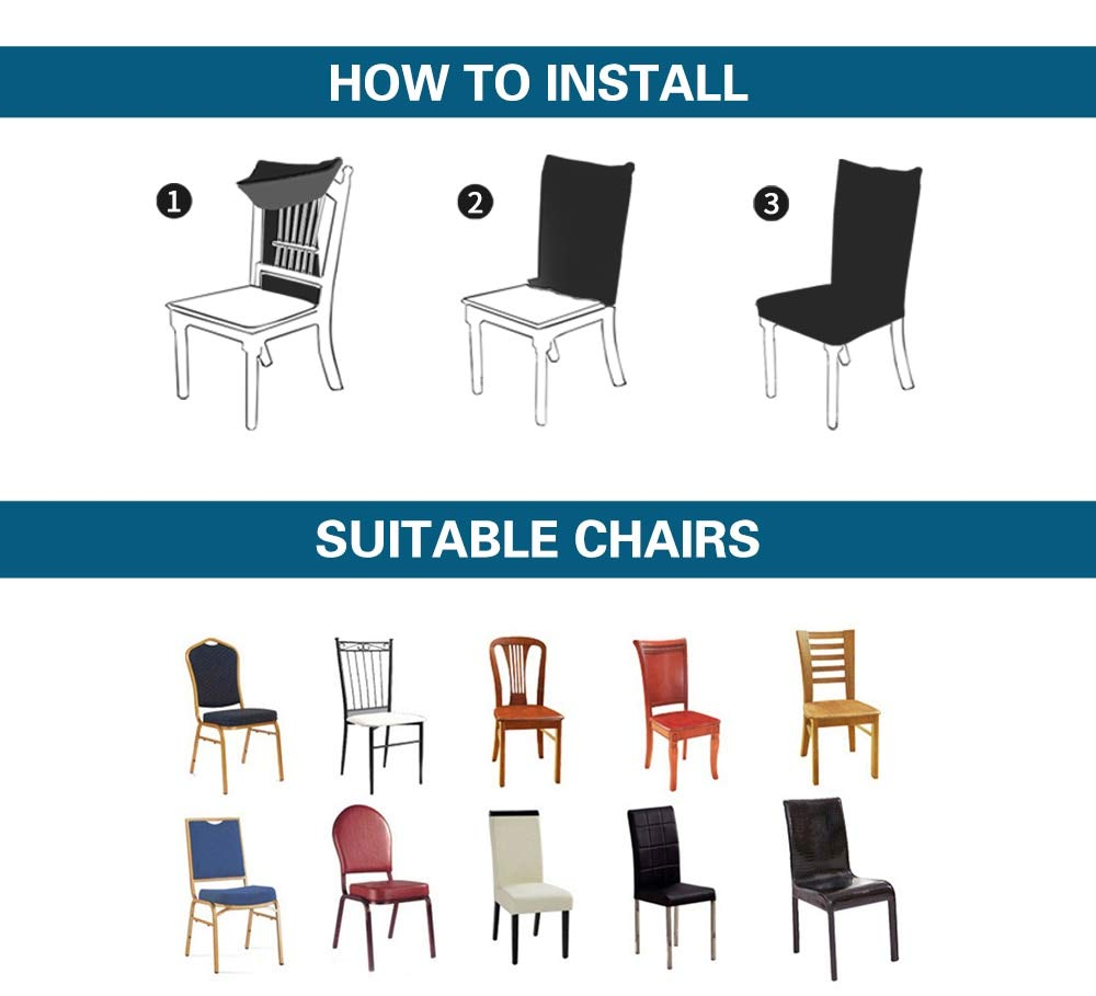Ihrtrade,Household,BJ700152,Stretch covers for chairs,Seat covers for dining room chairs,Elastic chair cover