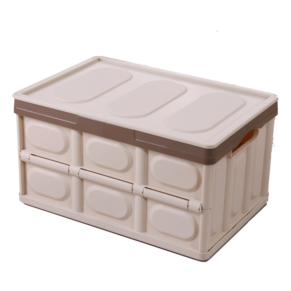 CAJA PLEGABLE CON TAPA - COLOR BEIGE