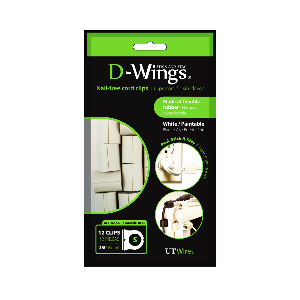 GUÍAS PARA ORGANIZAR CABLES D-WINGS LARGE (SET 12)