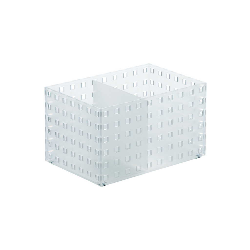 ORGANIZADOR BRICKS 2 DIVISONES TRANSPARENTE