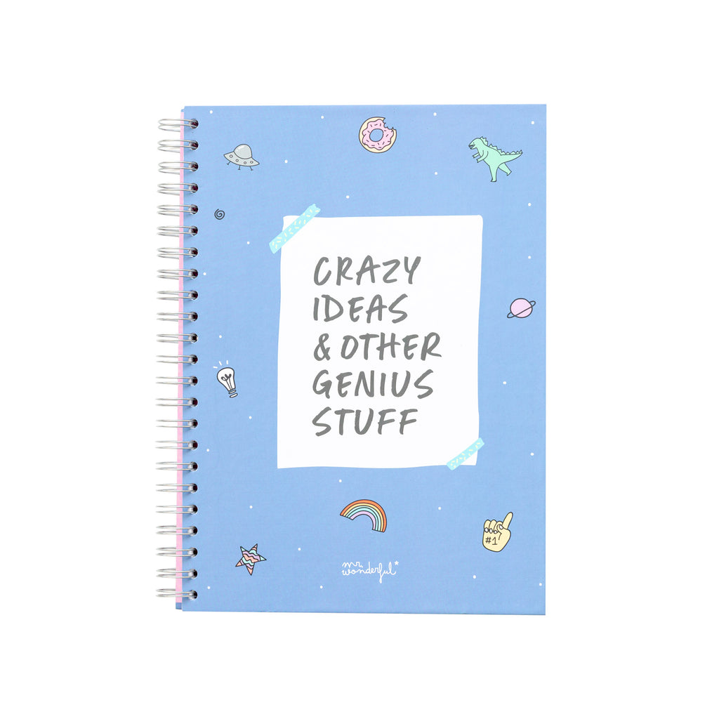 LIBRETA CRAZY IDEAS AND OTHER GENIUS STUFF - A4