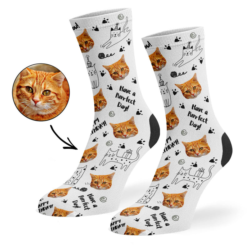 Birthday Cat Socks