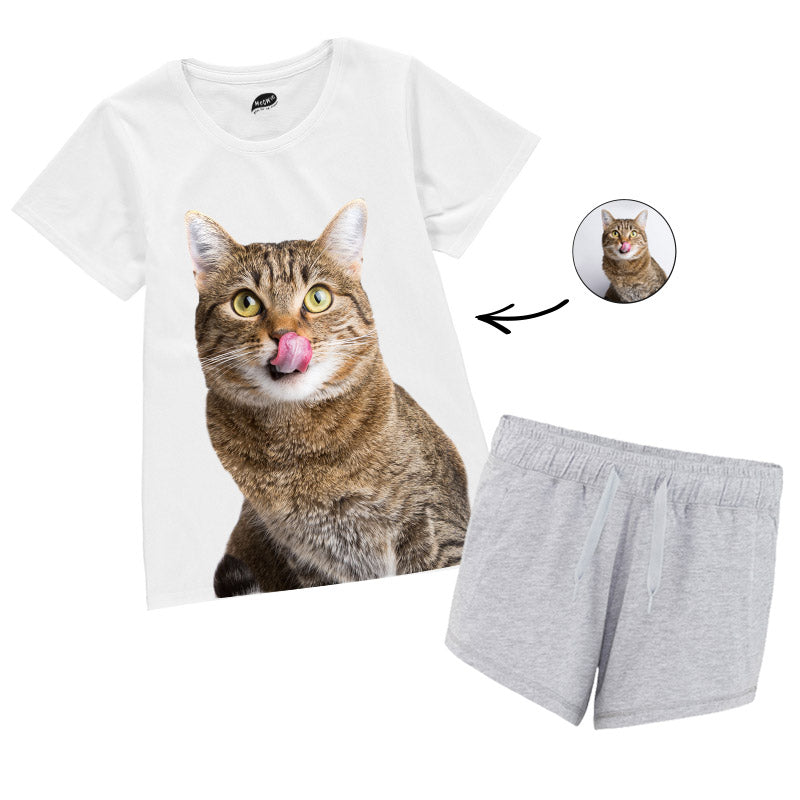 Cat Face Ladies Pyjamas