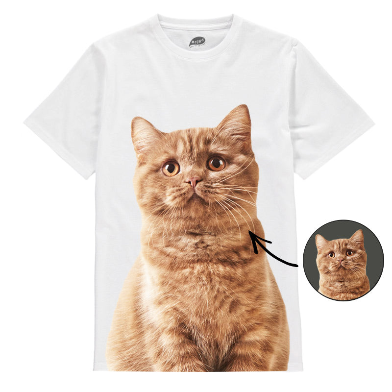 Cat Face Mens T-Shirt