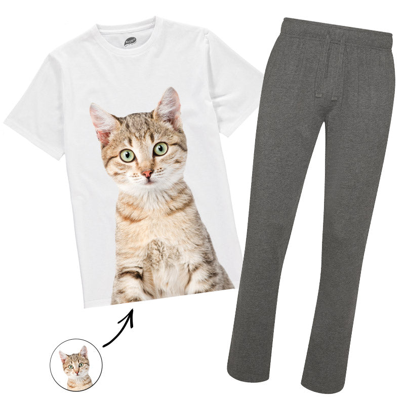 Cat Face Mens Pyjamas
