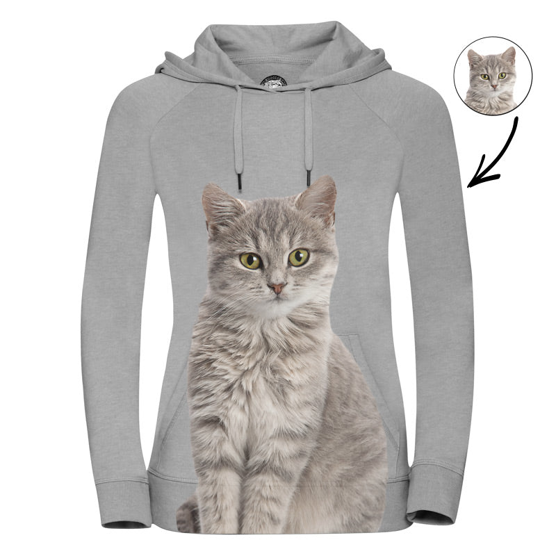 Cat Face Ladies Hoodie