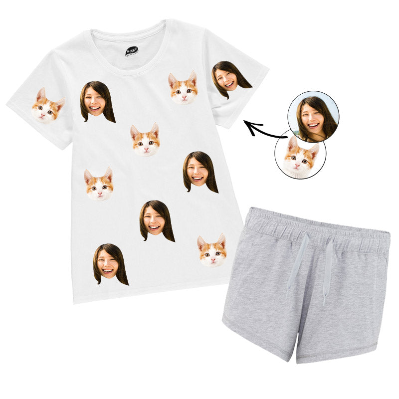 Cat & Owner Ladies Pyjamas