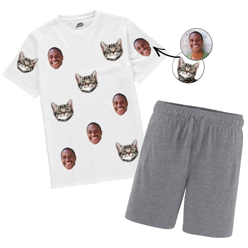 Cat & Owner Mens Pyjamas