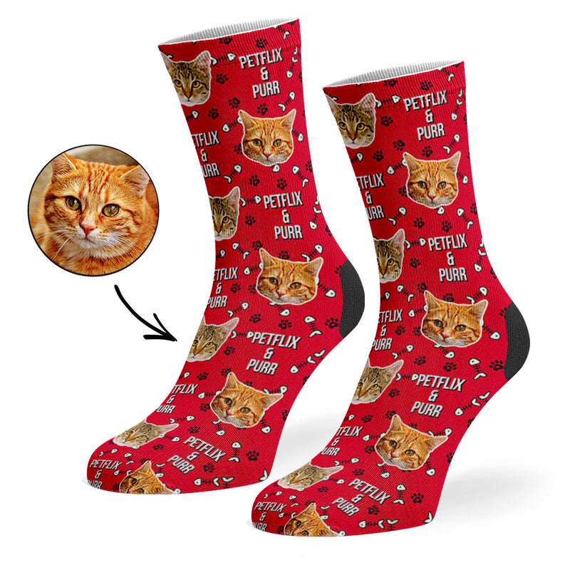 Petflix and Purr Socks