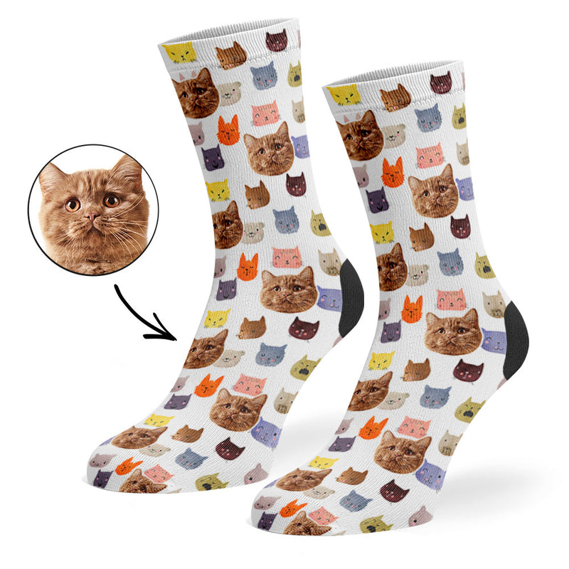Watercolour Cats Socks