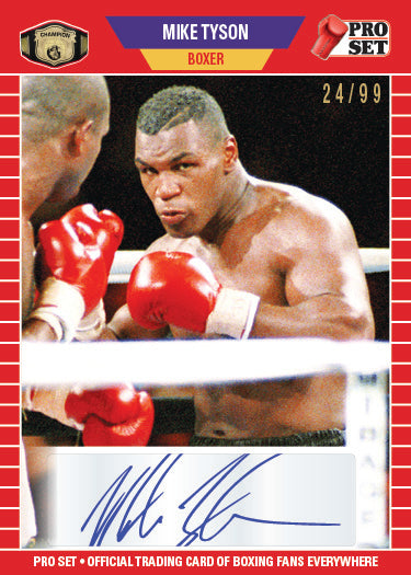 2021 PRO SET #PSA14 MIKE TYSON AUTOGRAPH (#/99 MADE)