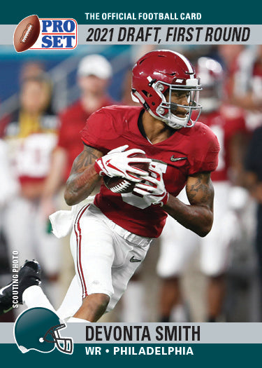 2021 PRO SET DRAFT DAY DEVONTA SMITH - PRINT TO ORDER