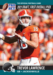 2021 PRO SET DRAFT DAY TREVOR LAWRENCE - PRINT TO ORDER