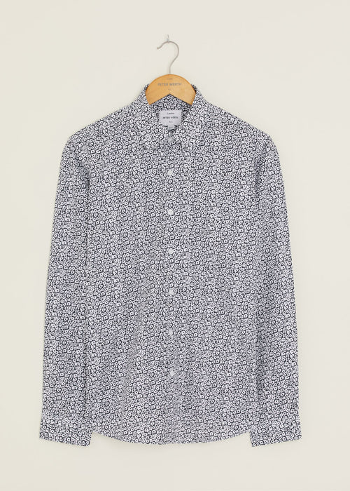 Ancestral Long Sleeved Shirt - Navy