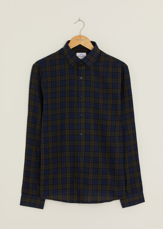 Dutton Long Sleeved Shirt - Navy