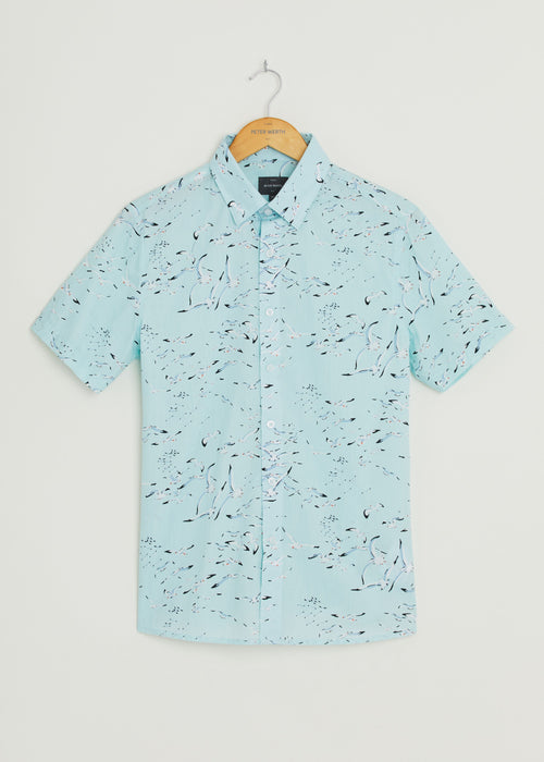 Flight Short Sleeve Shirt - Sky Blue
