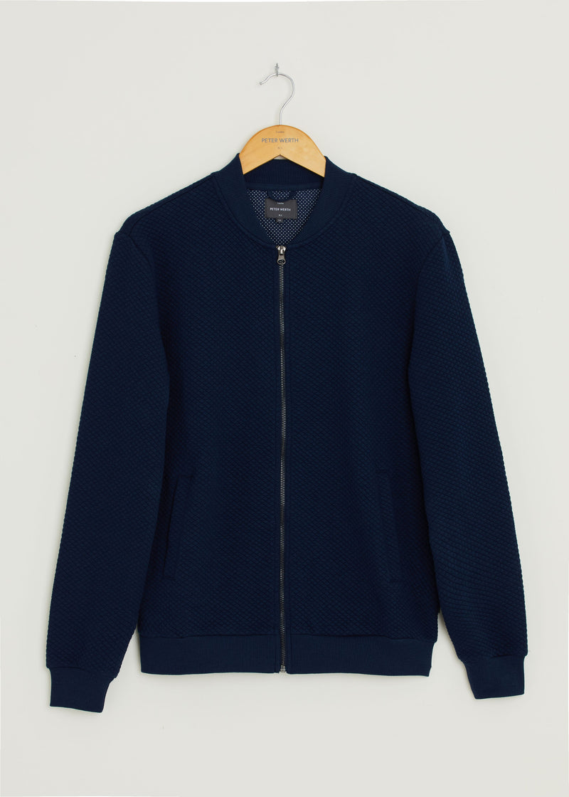 Harrier Fleece Bomber Jacket - Navy