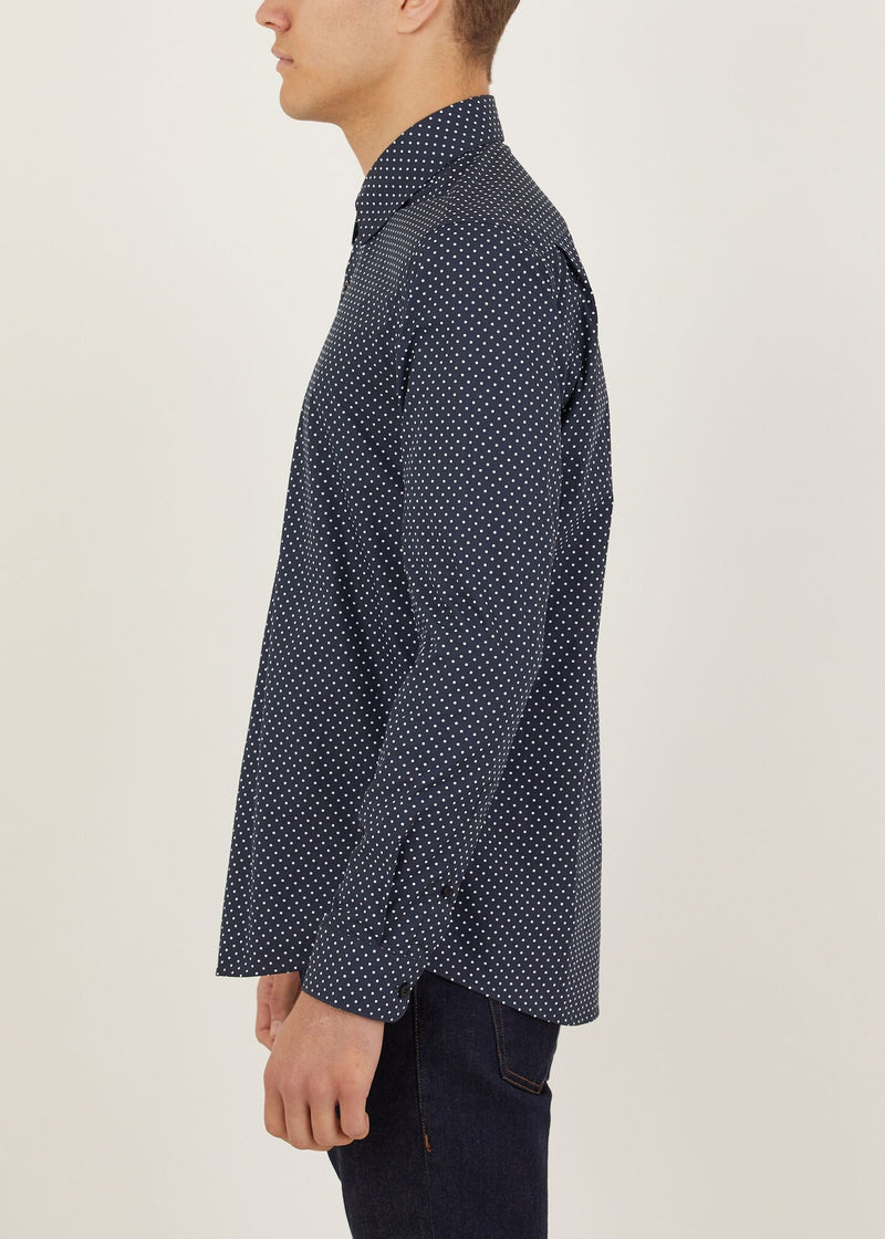 Hendon Long Sleeved Shirt - Navy
