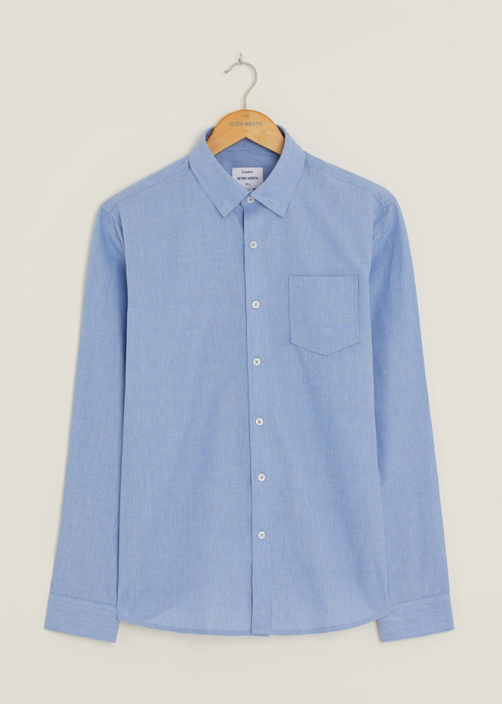 Hill Long Sleeved Shirt - Light Blue