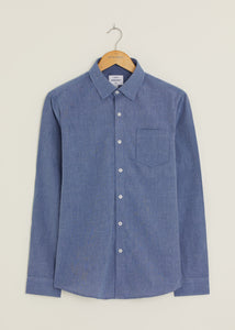 Hill Long Sleeved Shirt - Navy