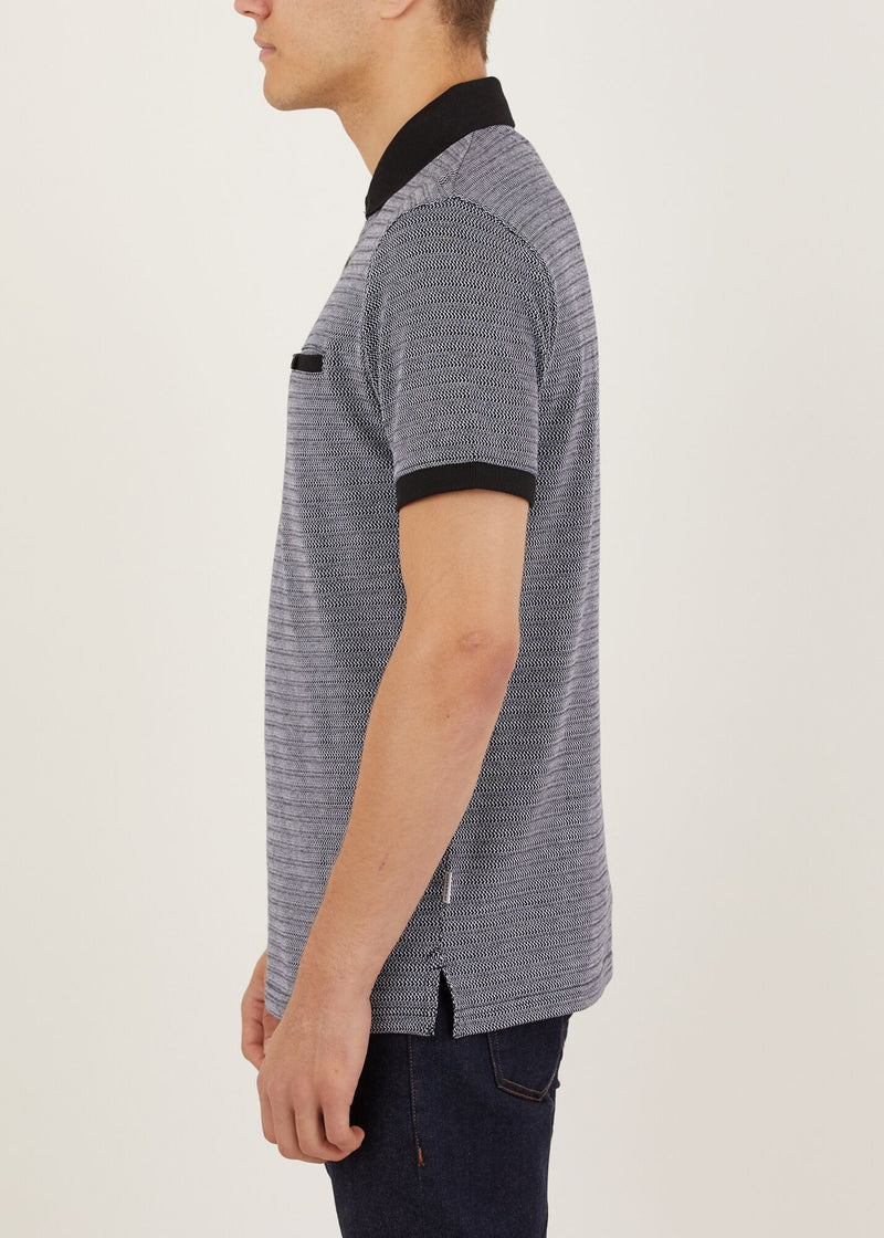Lowfield Polo Shirt - Grey/Black
