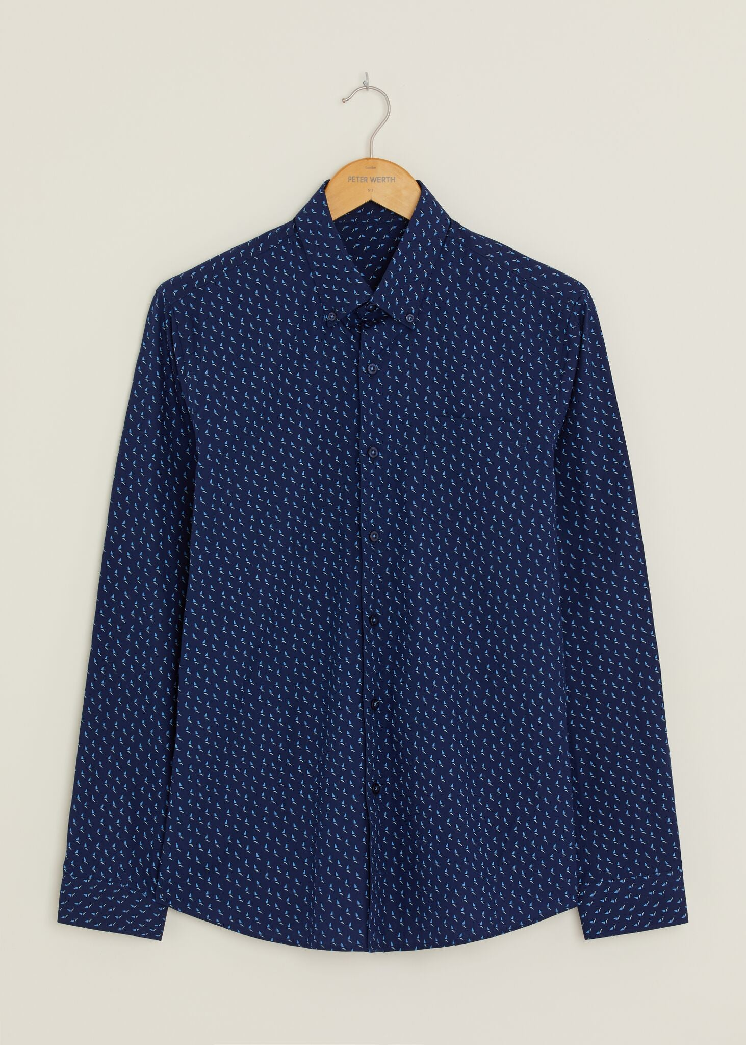 Morse Long Sleeved Shirt - Navy